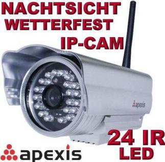 Apexis J233 IP Netzwerk Kamera Nachtsicht Wetterfest Bewegung Aussen