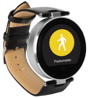 Enox RSW55 Bluetooth 4.0 Smartwatch rund Handyuhr kompatibel mit iOS Android SI - Vorschau 1