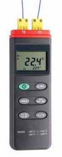 Thermoelementmessgerät mit 2 Eingängen