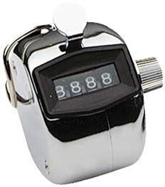 Mechanischer Handzähler, Anzeige bis 9999