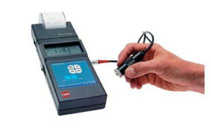 Vibrationsmessgerät mit Drucker