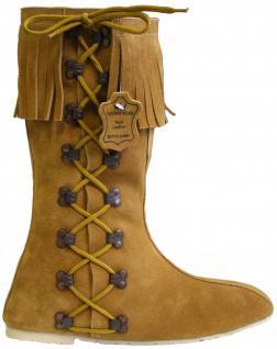 Western Indianer Stiefel fasching Trachtenstiefel Schuhe Cowboystiefel Echtleder Ocker