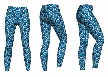 Beauty Leggings sehr dehnbar für Sport, Gymnastik, Training & Fashion Blau 3