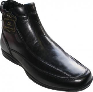 Schnürschuhe Stiefeletten aus echtem Rindsleder Schuhe schwarz