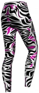 Pink tone Zebra Stripes Leggings sehr dehnbar für Sport, Gymnastik, Training, Tanzen & Freizeit - Vorschau 3