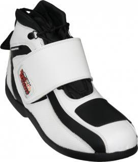 Biker Motorradstiefel Motorrad Racing Touring Stiefel stiefletten Schwarz, weiß 17cm