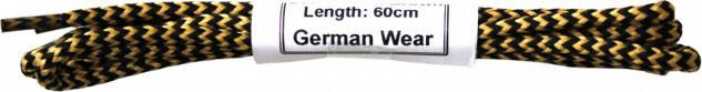1 Paar Trachten Schnürsenkel für Haferlschuhe Beige/Schwarz