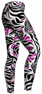 Pink tone Zebra Stripes Leggings sehr dehnbar für Sport, Gymnastik, Training, Tanzen & Freizeit - Vorschau 2