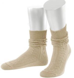 Damen Trachtensocken Trachtenstrümpfe Zopf Socken Natur Kurz
