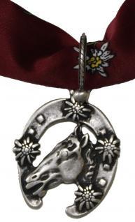 Wunderschöner Trachtenanhänger aus Metall, Edelweißpferd