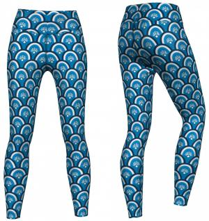 Beauty Leggings sehr dehnbar für Sport, Gymnastik, Training & Fashion Blau 2
