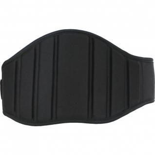 Fitness Gürtel Gewichthebergürtel Rückenstützgürtel Textilien schwarz