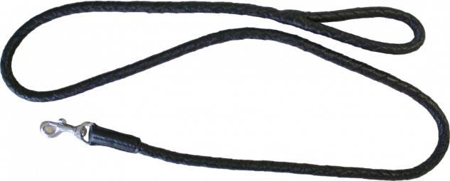 Hundeleine aus echtem Leder 140cm in schwarz