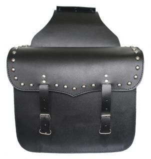 Motorrad Satteltasche saddlebag Tasche aus Büffelleder