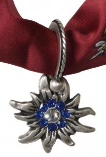 Wunderschöner Trachtenanhänger aus Metall, Edelweißblüte Strass