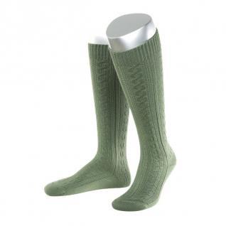 Damen Trachtensocken Trachtenstrümpfe Zopf Socken Schilf LANG