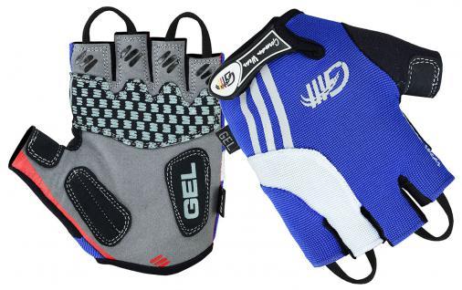 Fahrrad Radleder Handschuhe Fahrradhandschuhe Blau/Weiss