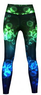 Crux Leggings sehr dehnbar für Sport, Gymnastik, Training & Fashion Schwarz/Blau/Grün