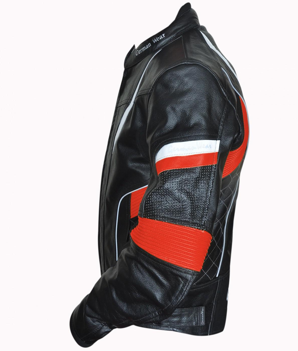 Motorradjacke Lederjacke Chopperjacke Cruiser Jacke 4x
