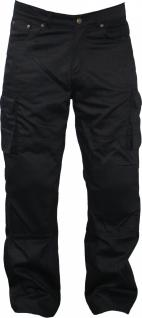 GermanWear, Kevlar Motorradjeans Motorradhose Jeans Hose mit Protektoren schwarz