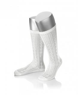 Damen Trachtensocken Trachtenstrümpfe Zopf Socken Farbe Weiß