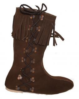Western Indianer Stiefel Trachtenstiefel Schuhe Cowboystiefel Echtleder Braun