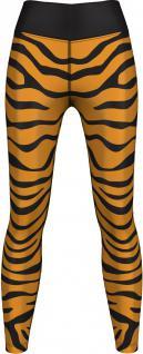 Tiger Leggings sehr dehnbar für Sport, Gymnastik, Training, Tanzen & Freizeit schwarz/gelb