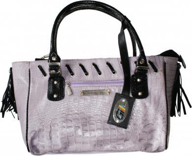 Damen Lederhandtasche Ledertasche Handtasche Tasche Tragetasche echtleder lila