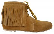 Western Trachtenschuhe Indianer Schuhe Cowboy echtleder Wildleder Ocker/Kastanienbraun