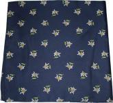 Halstuch Trachtentuch mit Edelweissmuster nikituch 60x60cm dunkelblau