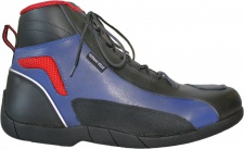 Biker Motorradstiefel Motorrad Touring Stiefel stiefletten schwarz, blau/rot 17cm
