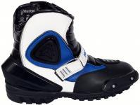 Biker Motorradstiefel Motorrad Sport Touring Stiefel Schwarz/Blau 21cm