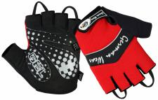 Fahrrad Radleder Handschuhe Fahrradhandschuhe Rot/Schwarz