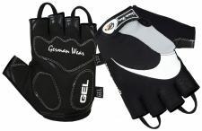 Fahrrad Radleder Handschuhe Fahrradhandschuhe Schwarz/Grau