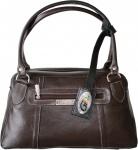 Damen Lederhandtasche Ledertasche Handtasche Tasche Tragetasche echtleder dunkelbraun