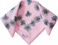 Halstuch Trachtentuch POLYESTER mit Edelweissmuster nikituch 50x50cm rosa