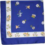 Zauberhaftes Edelweiß-halstuch Trachtentuch Halstuch 59x59 royalblau