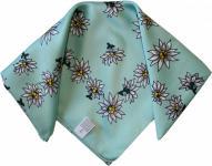 Halstuch Trachtentuch POLYESTER mit Edelweissmuster nikituch 50x50cm hellgrün