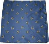 Halstuch Trachtentuch mit Edelweissmuster nikituch 60x60cm mittelblau