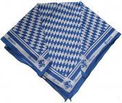 Halstuch Trachtentuch bayrisches Bandana Muster 53x53 dunkelblau