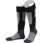 Motorrad Sport winter Vollplüsch Socken aus Baumwolle, Merinowolle in grau/schwarz
