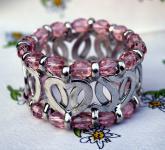Trachtenarmband Armband Trachtenschmuck rosa Herzen