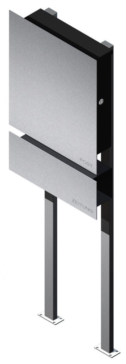 briefkasten edelstahl zeitungsbox freistehend kaufen bei ines bunk und susan richter gbr. Black Bedroom Furniture Sets. Home Design Ideas