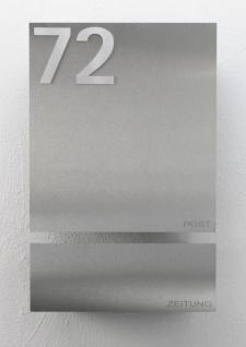 briefkasten edelstahl zeitungsbox hausnummer kaufen bei. Black Bedroom Furniture Sets. Home Design Ideas