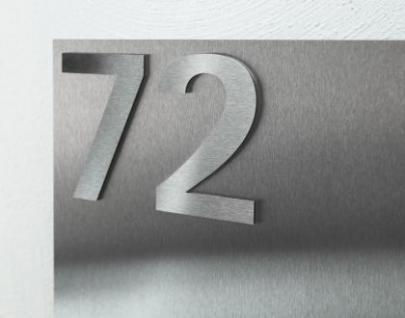 briefkasten edelstahl hausnummer freistehend kaufen bei. Black Bedroom Furniture Sets. Home Design Ideas