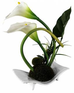 Kunstblume in Schale, Deko, Seidenblume, Blumen, künstliche Blume, Kunstpflanze B1005