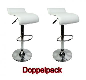 2 x Design Barhocker Bar Hocker Stuhl Barstuhl Tresen M6 Weiß mit Lehne NEU