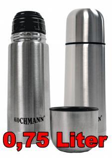 Thermoskanne Isolierkanne 0, 75 Ltr Thermos Isolier Kanne Flasche Isolierflasche