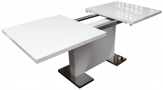 designer esstisch k chentisch tisch tische weiss ausziehbar 160 200cm kaufen bei cira. Black Bedroom Furniture Sets. Home Design Ideas