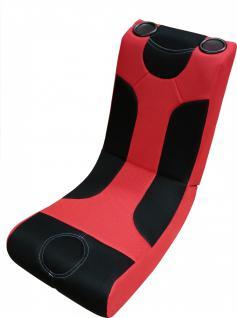 Multimediasessel Gaming Chair USB, SD-Card Soundsessel Musiksessel K4 Schwarz/Rot